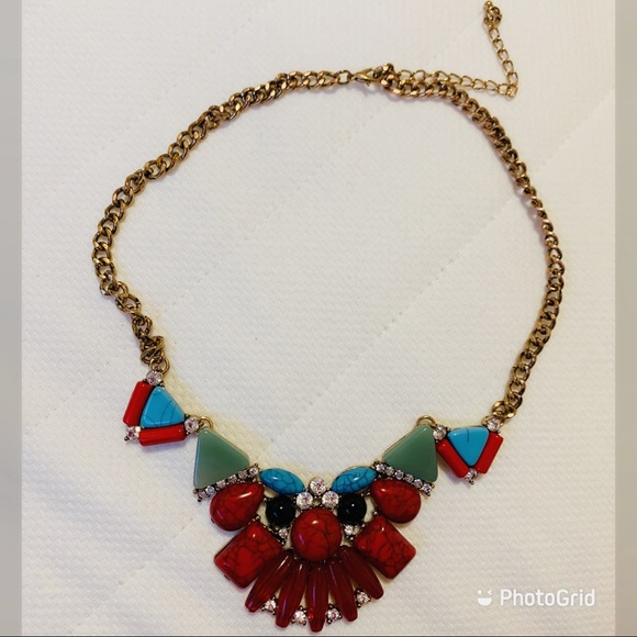 Buy 2 get 1 FREE NWOT Tribal coloured necklace